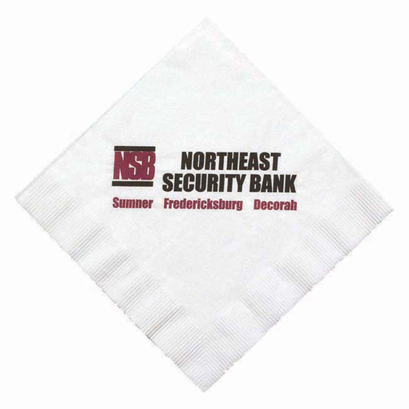 "6.5""x6.5"" White 1-Ply Coin Edge Embossed Luncheon Napkins - The 500 Line"