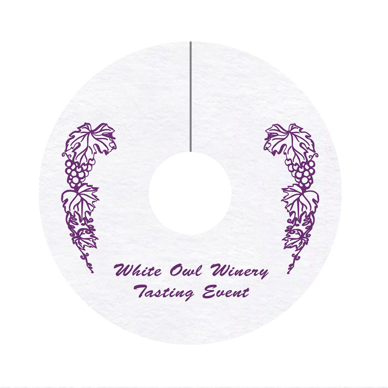 "40 Pt. 2.75"" Wine Tag Coaster - White High Density - The 500 Line"