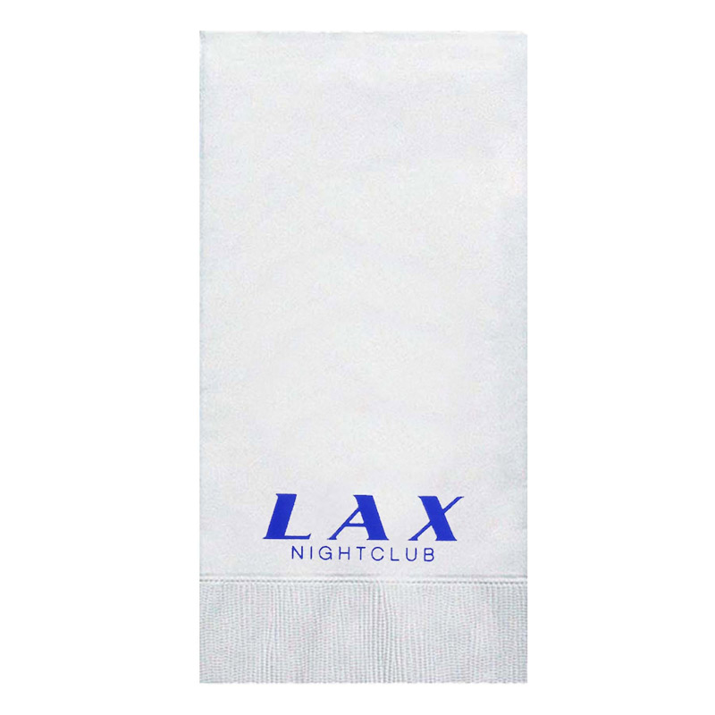 Foil Stamped White Hand Towel