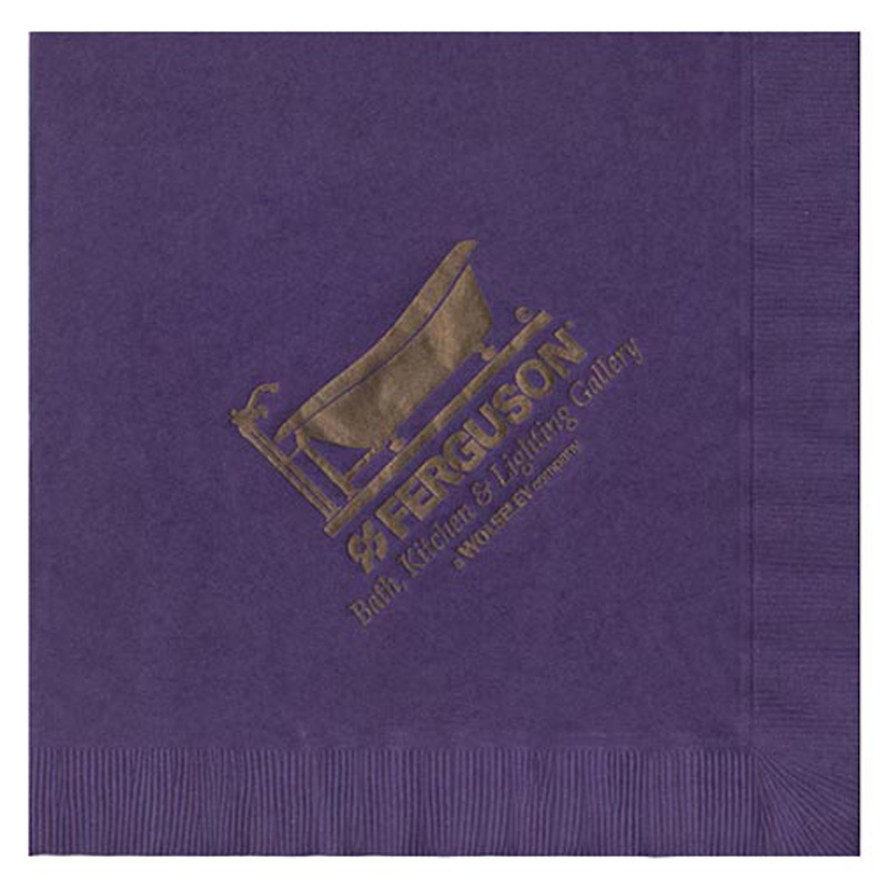 "Folded 8""x8"" 2-Ply Colored Dinner Napkins - The 500 Line"