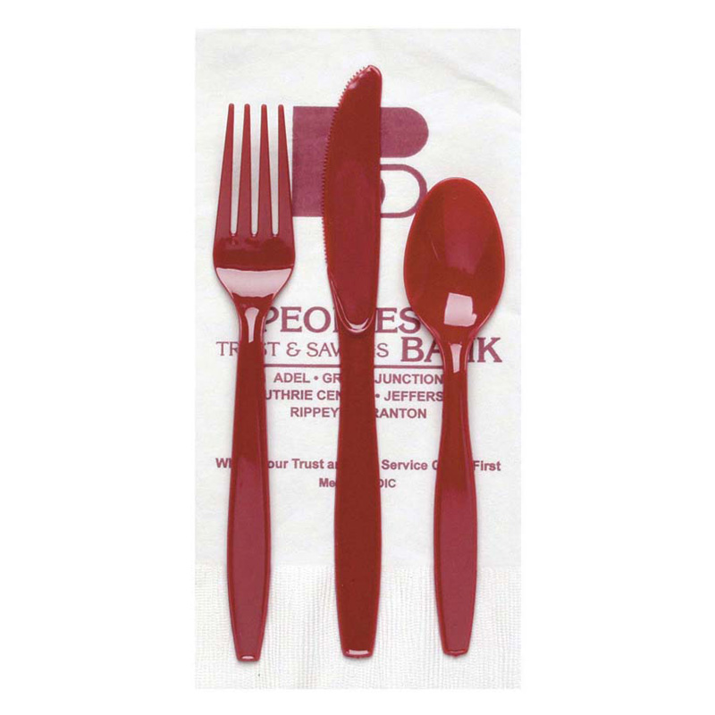 White 3-Ply Dinner Napkin/Knife/Fork/Teaspoon - The 500 Line