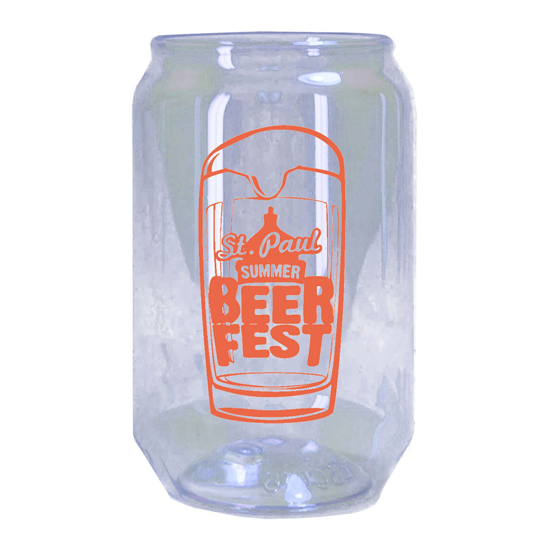 16 Oz. Beer Can Glass