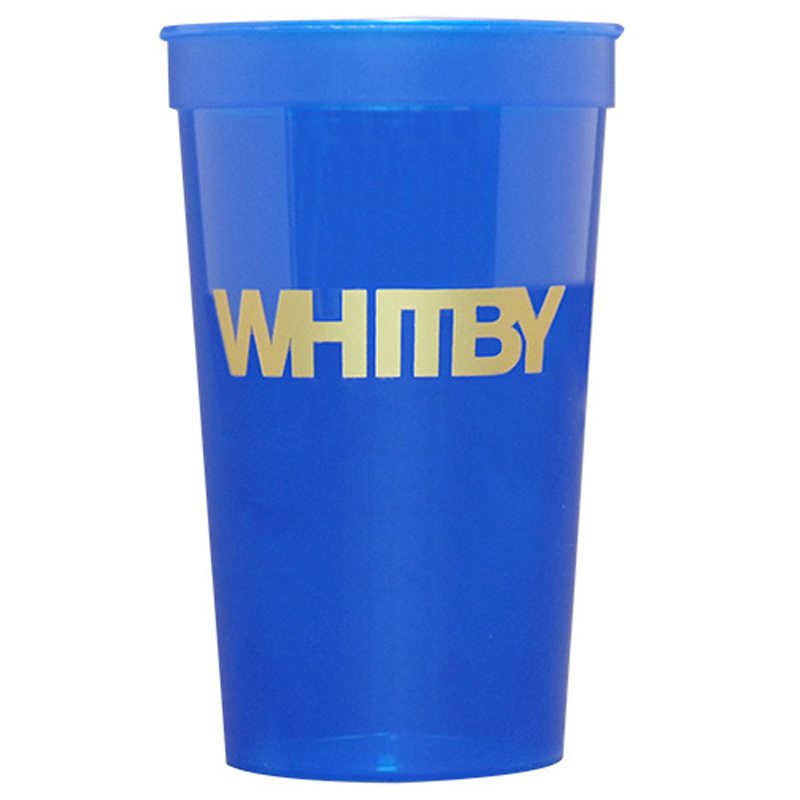 22 Oz. Smooth Color Translucent Stadium Cups