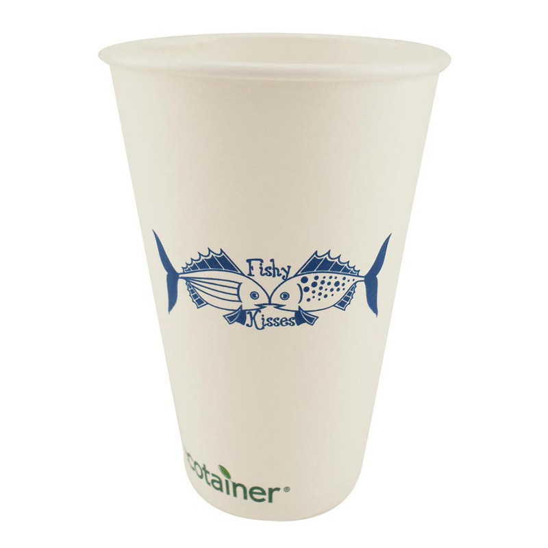 16 Oz. Eco-Friendly Solid White Cups - The 500 Line