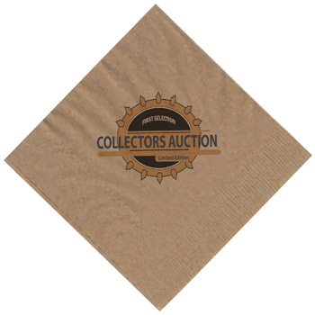 "The 500 Line Kraft 1-Ply Beverage Napkins (5""x5"")"
