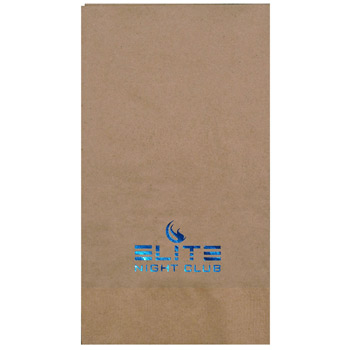 Foil Stamped 1-Ply Kraft 1/8 fold Dinner Napkin
