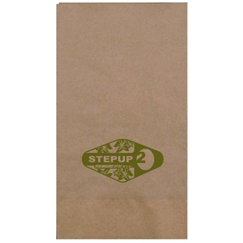 "4""x8"" Kraft 2-Ply Dinner Napkins - The 500 Line"