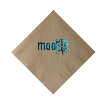 Foil Stamped 2-Ply Kraft Beverage Napkin