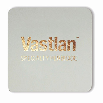 "Foil Stamped 40 Pt. 4"" Square - White High Density Coasters - The 500 Line"