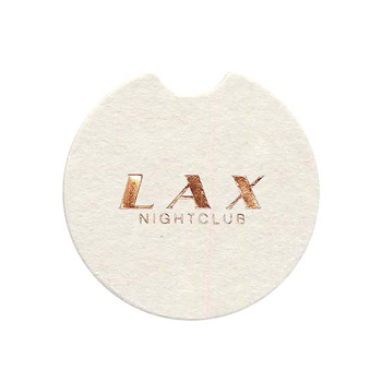 Foil Stamped 40 pt., Car Coaster - White High Density Coasters - The 500 Line