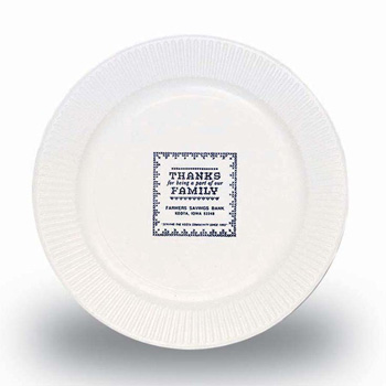 "7"" White Paper Plate - The 500 Line"