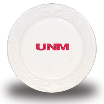 "9"" White Paper Plate - The 500 Line"