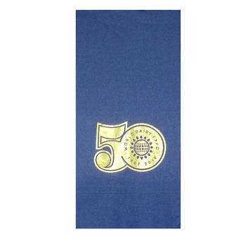 Foil Stamped Colored 1/8 Fold Dinner Napkins
