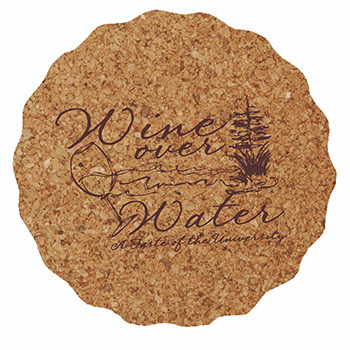 "3.625"" Scalloped - Cork Coaster - The 500 Line"