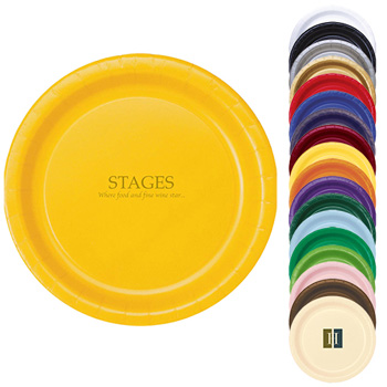 "The 500 Line Colorware 9"" Round Paper Plates"