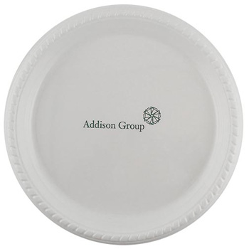 "10"" Premium White Plastic Plate - The 500 Line"