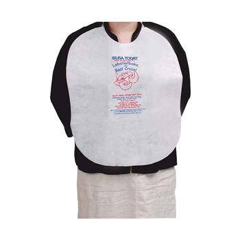 "White Lobster Bib Disposable 18""x20"" - Apron & Lobster Bib - The 500 Line"
