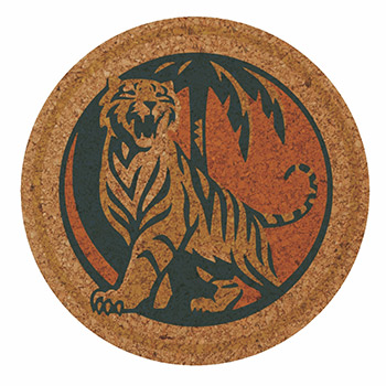 "3.5"" Round - Digital Cork Coaster - The 500 Line"
