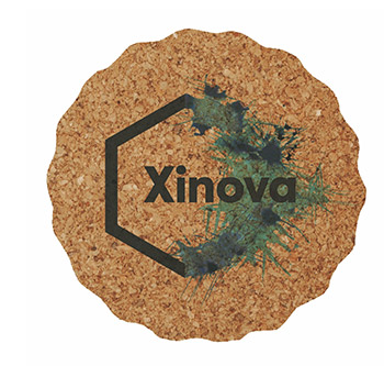 "3.625"" Scalloped - Digital Cork Coaster - The 500 Line"