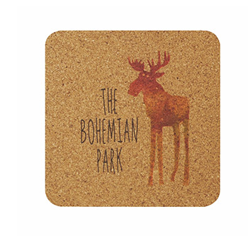 "3.375"" Square - Digital Cork Coaster - The 500 Line"