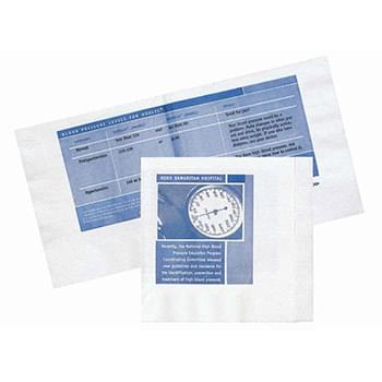 "5""x5.375"" White 2-Ply Off-Folded Beverage Promo Napkins - High Lines"