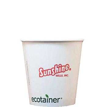 10 Oz. Eco-Friendly Solid White Cups - High Lines