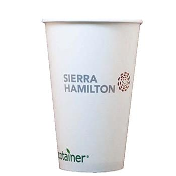 16 Oz. Eco-Friendly Solid White Cups - High Lines