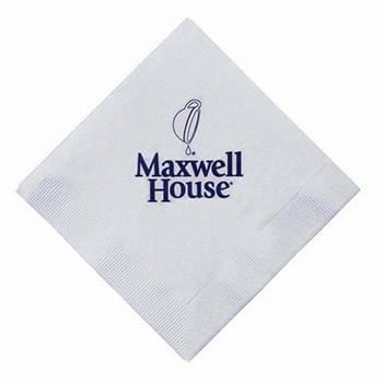 "5""x5"" White 3-Ply Beverage Napkins - High Lines"