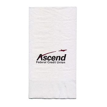 "4.25""x8.5"" White 3-Ply Dinner Napkins - High Lines"