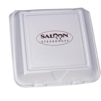 Large Compartment - Foam Hinged Deli Containers - The 500 Line