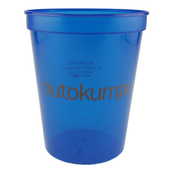 16 Oz. Smooth Colored Translucent Stadium Cups