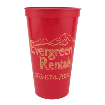 32 Oz. Smooth Stadium Cups - The 500 Line
